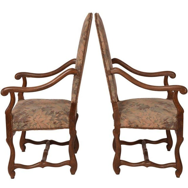 Image of French Antique Arm Chairs - A Pair