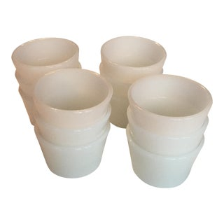 Milk Glass Custard Cups - Set of 12