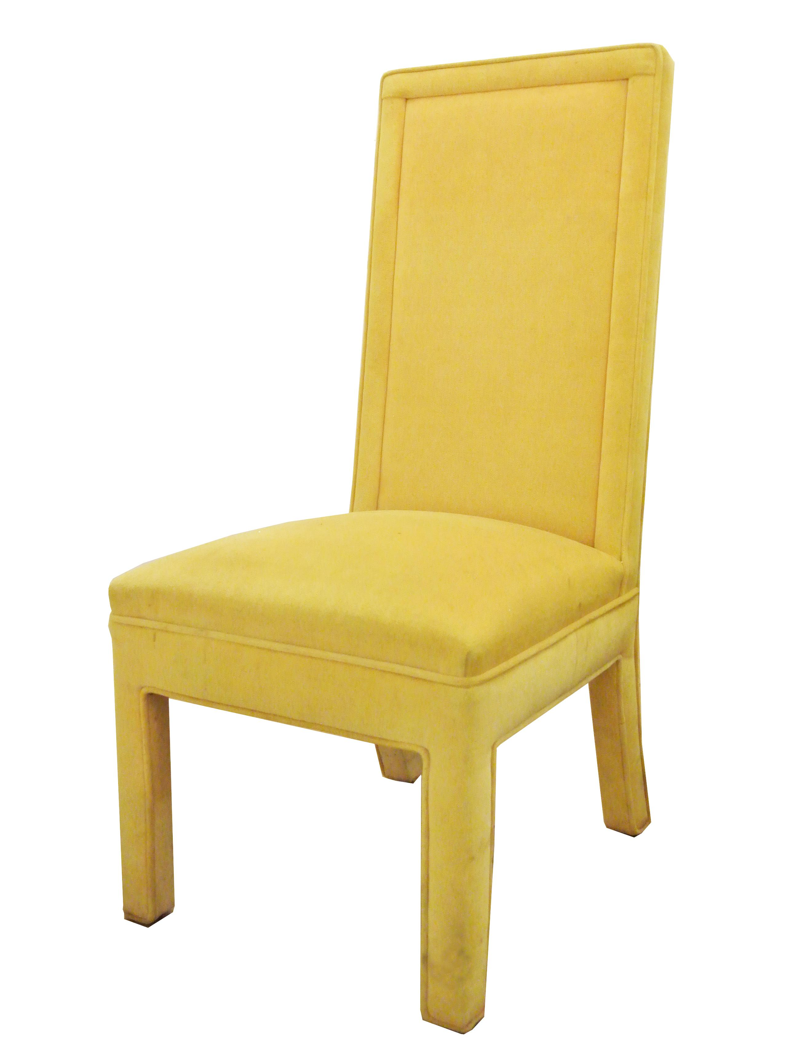 Yellow Faux Mohair Upholstered Parsons Dining Chairs Set  : yellow faux mohair upholstered parsons dining chairs set of 4 9454aspectfitampwidth640ampheight640 from www.chairish.com size 640 x 640 jpeg 20kB