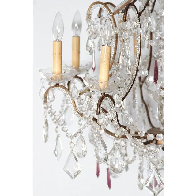 19th Century Italian 8-Light Crystal Chandelier - Image 8 of 10