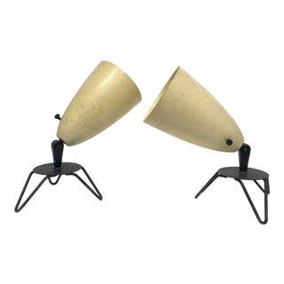 Mid-Century Fiberglass Lamps - A Pair