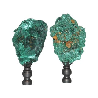 Botryoidal Malachite Finials - Pair