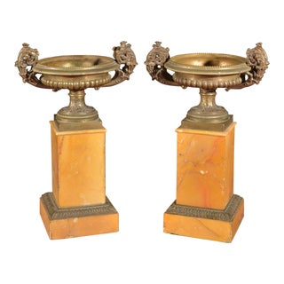 19th Century Pair of Grand Tour Tazzas