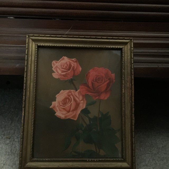 """Roses With Greenery"" Painting - Image 2 of 5"