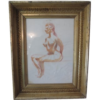 1970s Female Figure Study by Barbara Pound