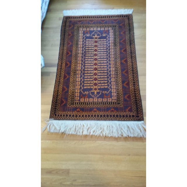 """Persian Shiraz Hand-Knotted Oriental Wool Rug - 4'10"""" X 2'11"""" - Image 10 of 11"""
