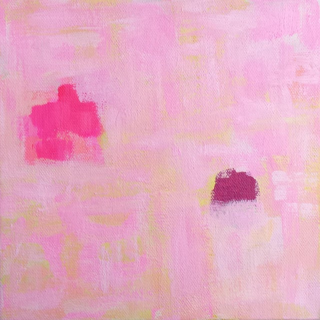 """Image of Susie Kate """"Spring Pink"""" Abstract Painting"""