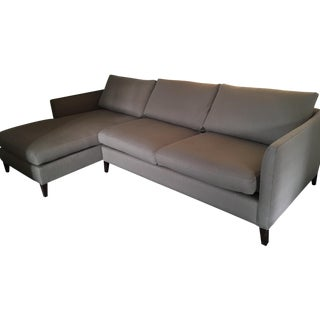 Crate and Barrel 2-Piece Sectional Sofa