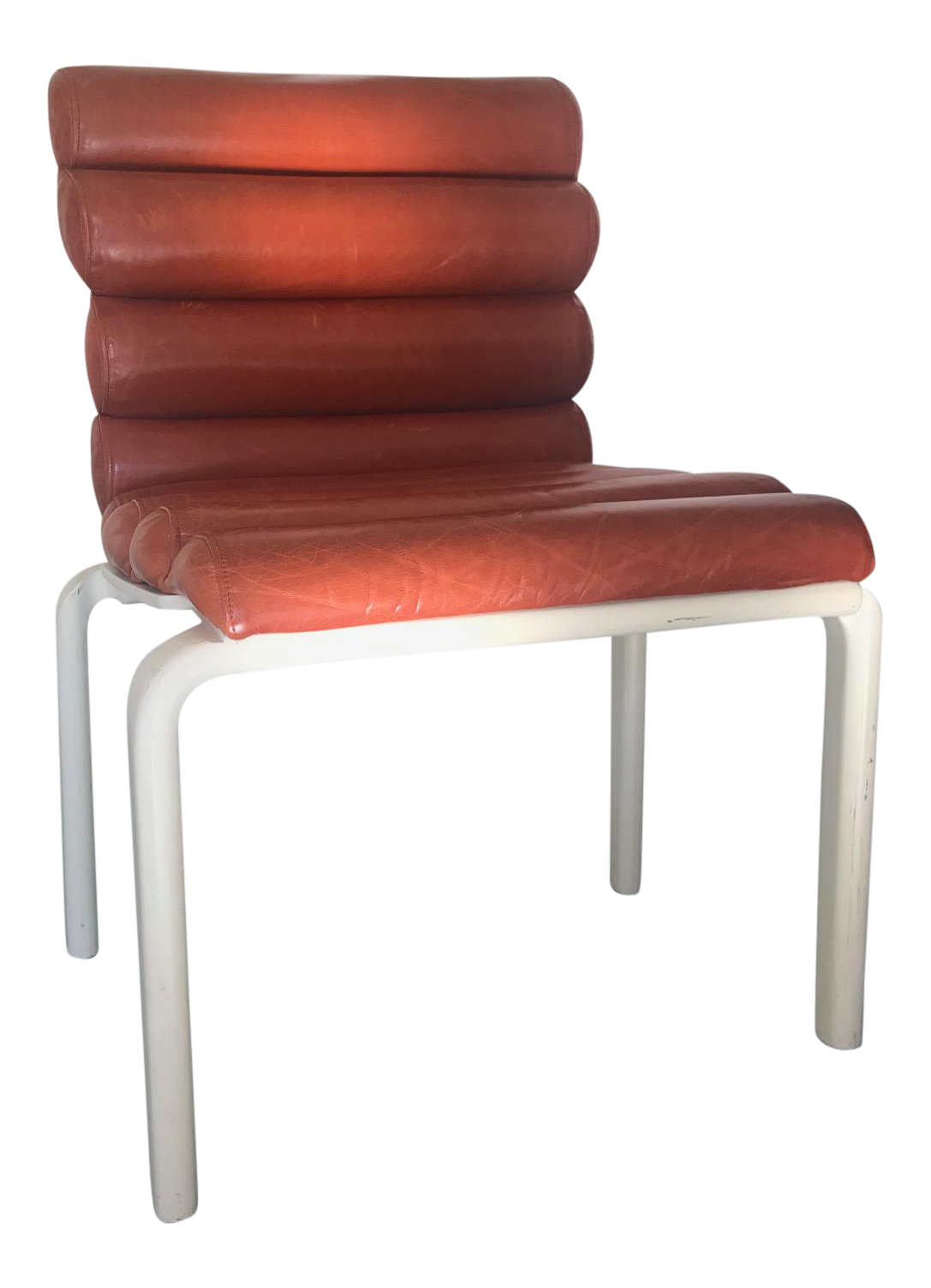 1960s Italian Leather Chairs   Set Of 5
