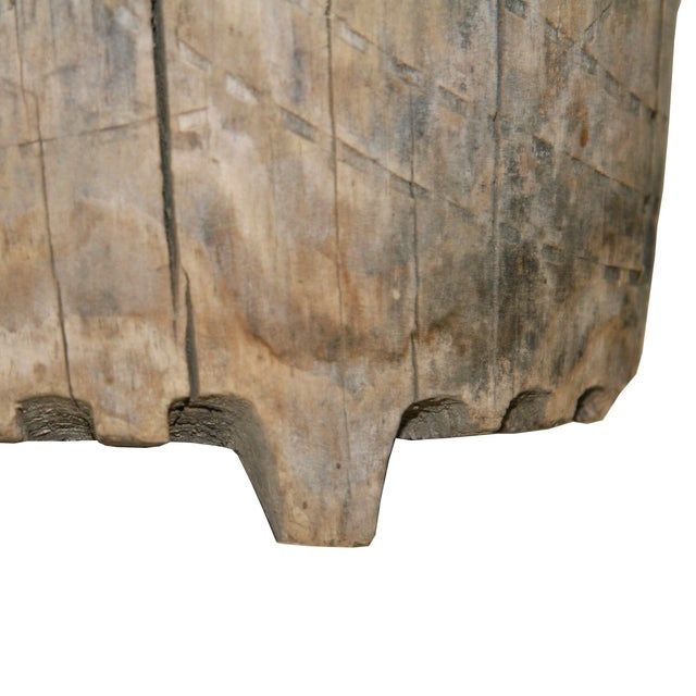 Hand-Carved Antique Wood Ewer - Image 2 of 6