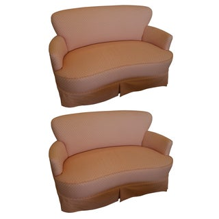 Hollywood Regency Scalamandre Loveseats - Pair