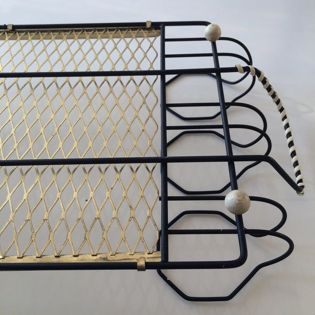 Mid-Century Metal 6-Glass Serving Tray - Image 11 of 11