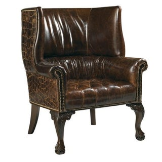 Henry Link Trading Company Leather Wing Chair