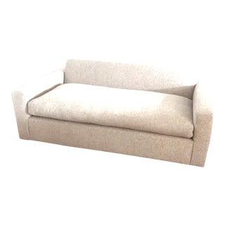 The Plinths - In Hues of Oak - custom - seating - upholstered in blended linen