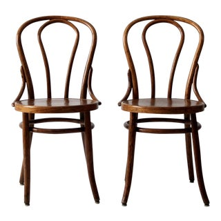 1930s Vintage Bentwood Chairs - A Pair