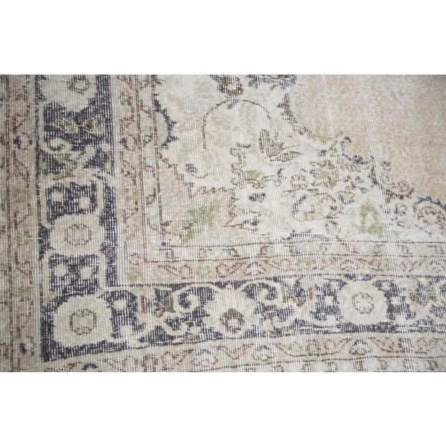 "Distressed Oushak Carpet - 7'3"" x 10'4"" - Image 3 of 4"