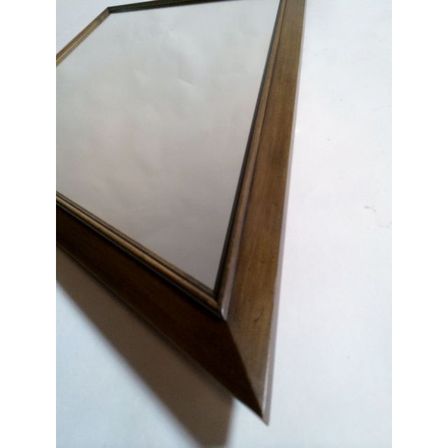 1960s Diamond Walnut Mirrors - A Pair - Image 5 of 5