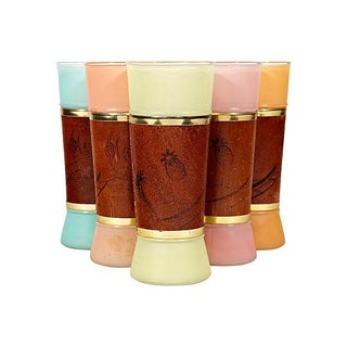 Nautical Wood-Wrapped Tumblers - Set of 6