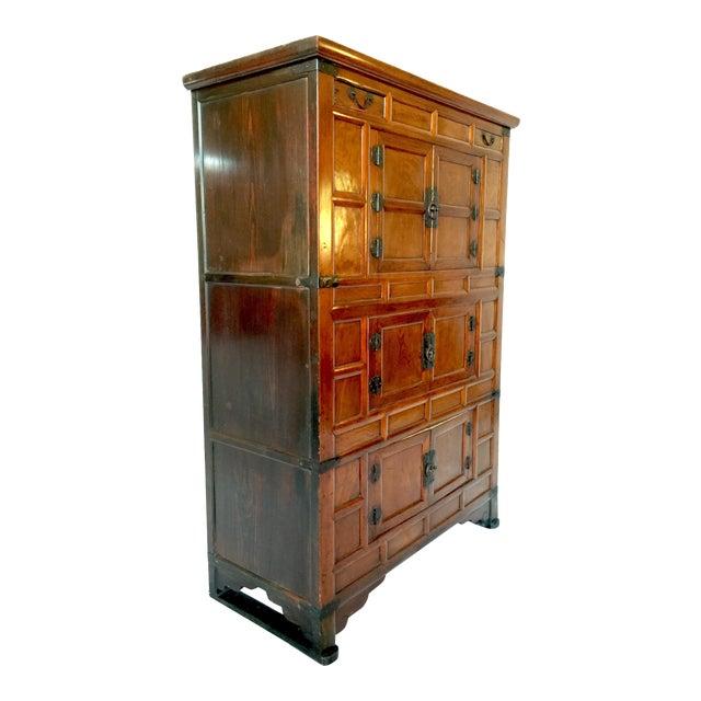 Amazing Antique 19th Century Korean | Chinese | Japanese Tansu Cabinet Iron Pulls and Hardware - Image 1 of 9