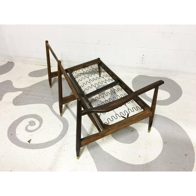 Mid-Century Modern Walnut Corner Sofa Frame - Image 5 of 6