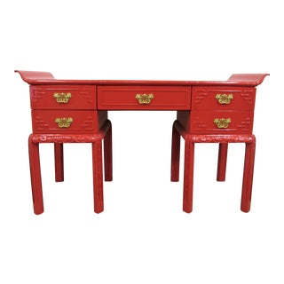 Chinoiserie Pagoda Desk or Console