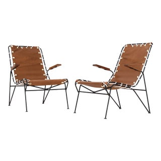 Pair of Sling Lounge Chairs by Pipsan Saarinen Swanson