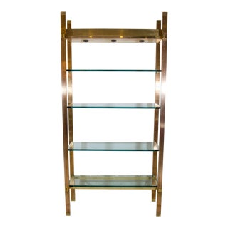 Exceptional Illuminated Etagere in the Manner of Karl Springer