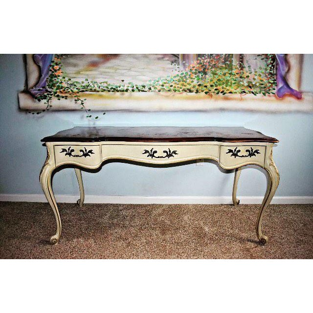 Vintage White Fine Furniture Co Ivory Desk Chairish