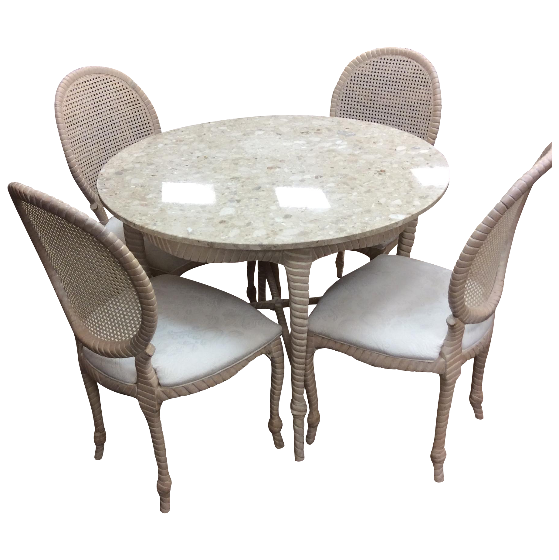 Round Marble Top Dining Table amp Four Chairs Chairish : 620e52bc de36 45cf b5ee c1b732ac1331aspectfitampwidth640ampheight640 from www.chairish.com size 640 x 640 jpeg 48kB