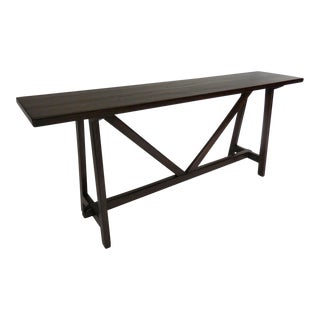 Rustic Modern Walnut Console Table
