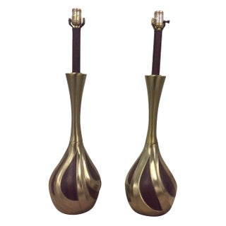 Laurel Mid-Century Modern Brass Lamps
