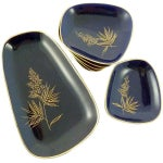 Image of Mid-Century Cobalt Serving Dishes - Set of 7