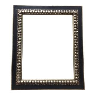 Vintage Black & Silver Carved Wood Frame