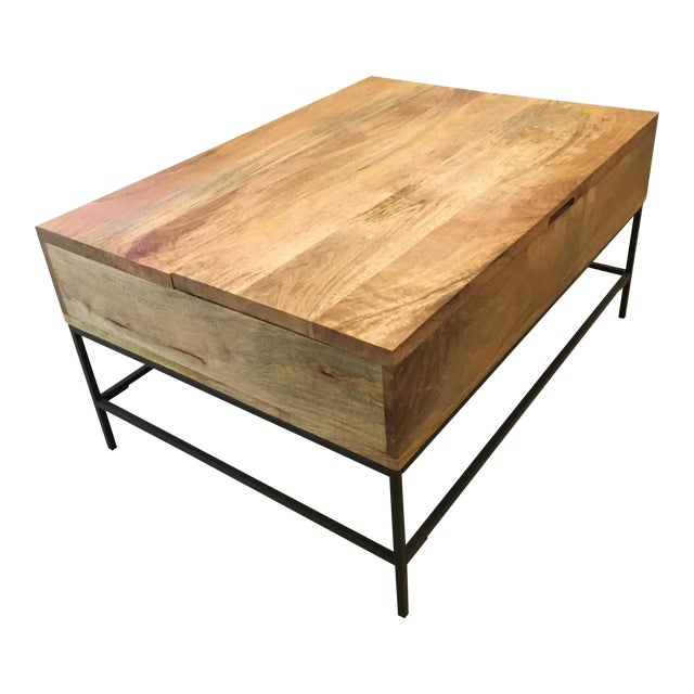 West elm industrial storage coffee table chairish for West elm industrial storage coffee table