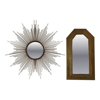 Miniature Brass Mirrors