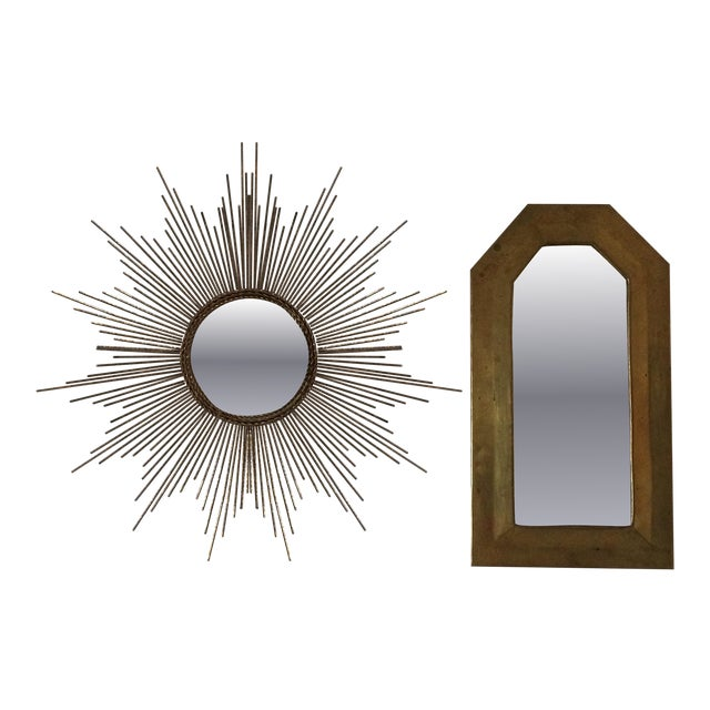 Miniature brass mirrors chairish for 0co om cca 9 source table