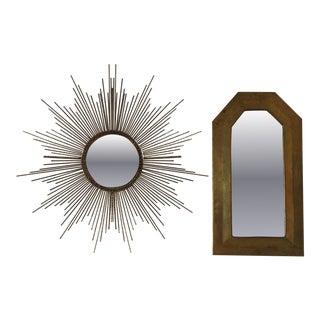 Miniature Brass Mirrors