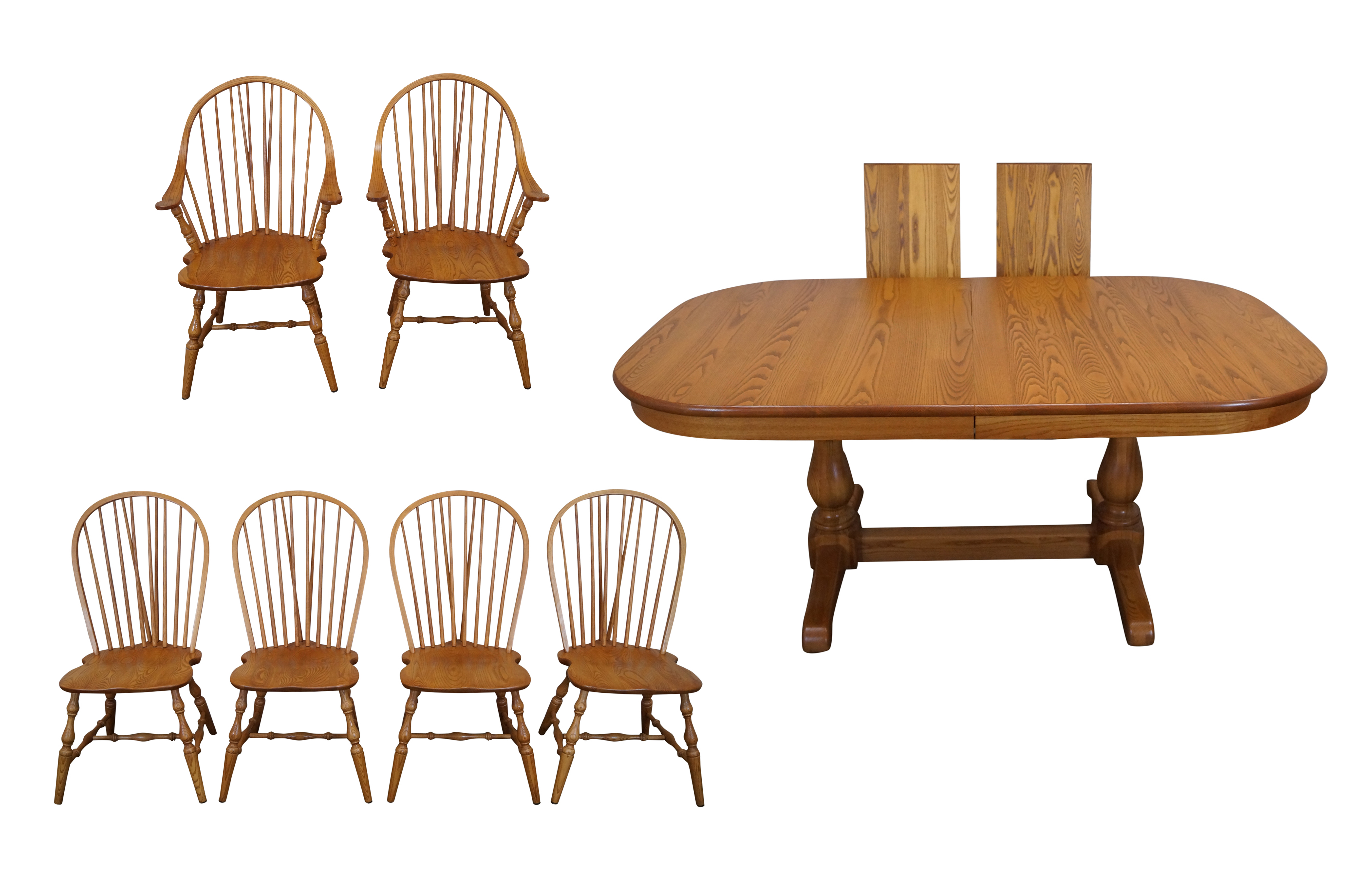 Early American Dining Room Furniture: Early American Style Athol Oak Dining Set