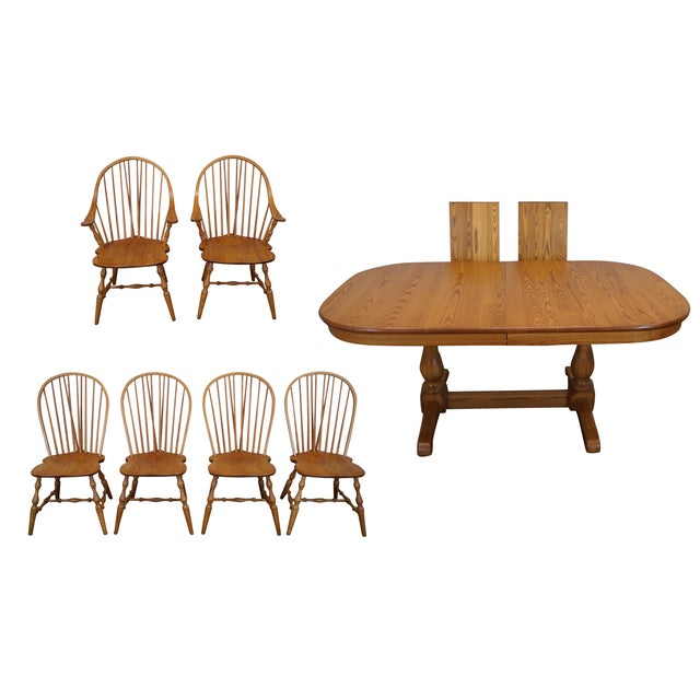 early american style athol oak dining set chairish