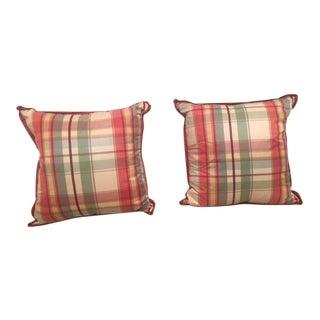Custom Plaid Pillows - A Pair