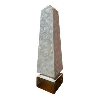 Vintage Capiz Shell Obelisk