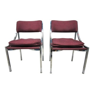 Milo Baughman Dining Chairs - A Pair