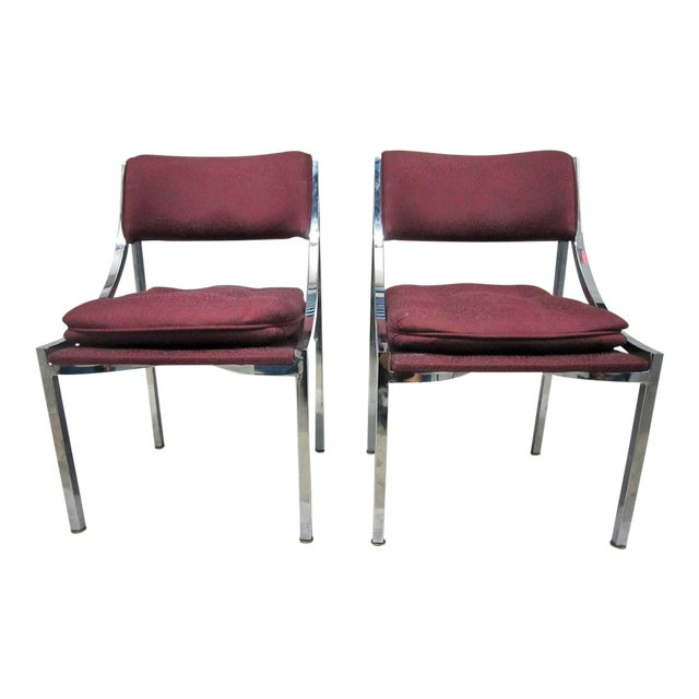 Milo Baughman Dining Chairs - A Pair - Image 1 of 7