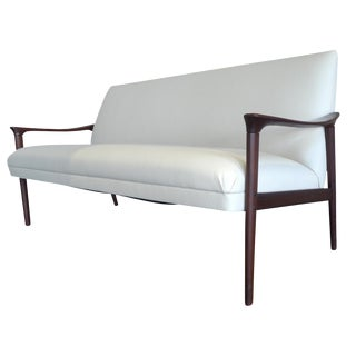 Vintage Ole Wanscher Danish White Sofa
