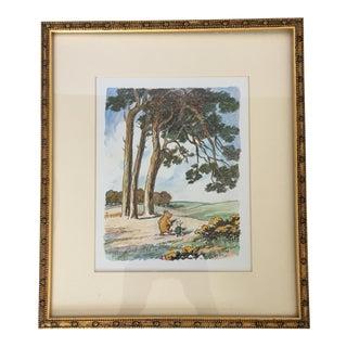 Vintage Framed Winnie the Pooh Print