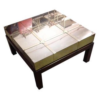 Sarreid Brass-Clad Cocktail Table
