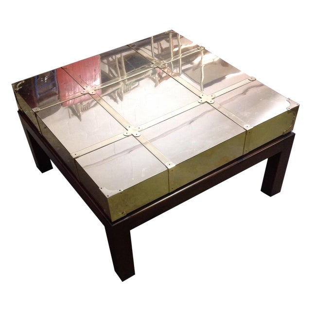 Sarreid Brass Clad Cocktail Table Chairish