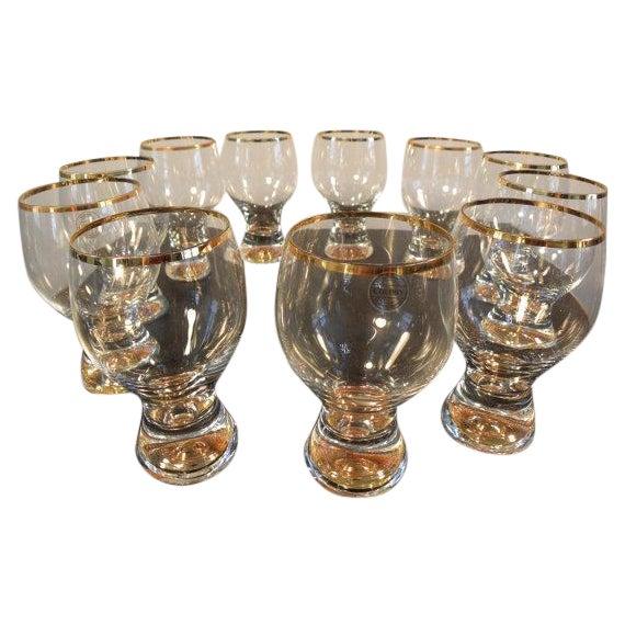 Vintage Bohemian Pedestal Glasses - Set of 11 - Image 1 of 5