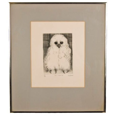 "Vintage ""Pel's Fishing Owl"" Pen and Ink Print - Image 1 of 6"