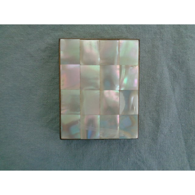 Image of Vintage Mother of Pearl & Brass Compact